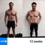 Personal Training Results Male 12 weeks