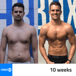 Personal Training Results Male 10 weeks